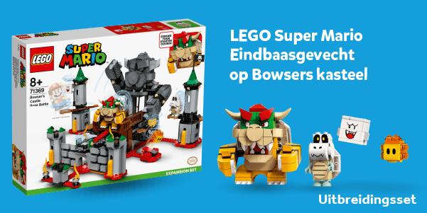 LEGO Super Mario Eindbaasgevecht op Bowsers kasteel uitbreidingsset