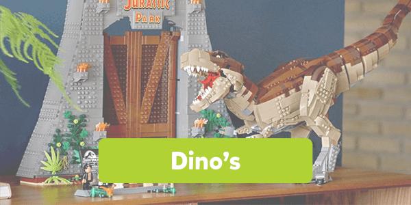 Bekijk alle dino's van LEGO