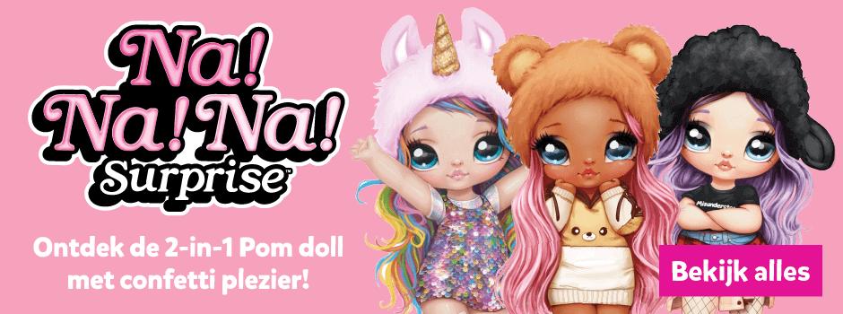 Na! Na! Na! Surprise ontdek de 3-in-1 Pom doll met confetti plezier!