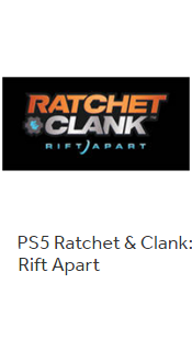 PS5 Ratchets & Clank: Rift Aparts