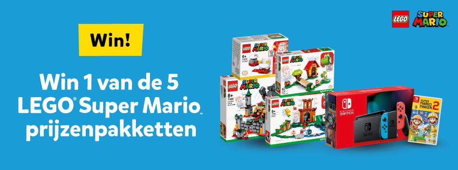 Win 1 van de 5 LEGO Super Mario prijzenpakketten bij Intertoys