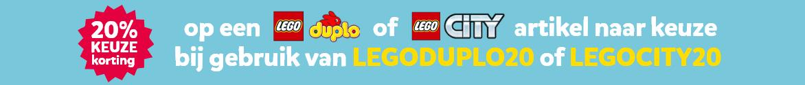 LEGO City of LEGO DUPLO kortingscode voor 20% korting op één artikel naar keuze