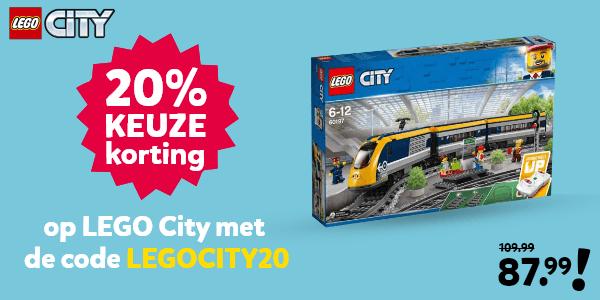 LEGO City kortingscode voor 20% keuzekorting