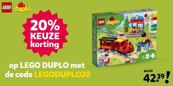 LEGO DUPLO kortingscode voor 20% keuzekorting