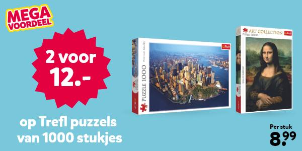 Trefl puzzels met 1000 stukjes