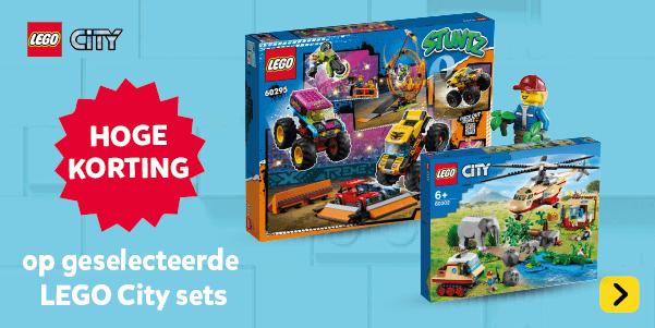 Hoge korting op geselecteerde LEGO City speelsets