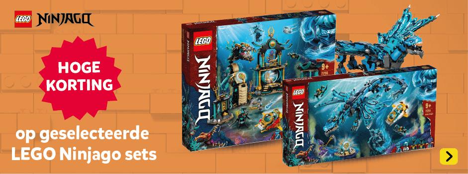Hoge korting op geselecteerde LEGO Ninjago speelsets