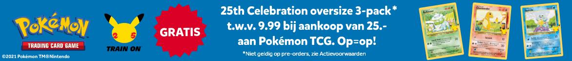 Gratis 3-pack Pokémon bij aankoop van 25.- aan Pokémon TCG