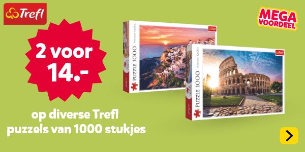 2 voor 14 euro op diverse Trefl puzzels van 1000 stukjes