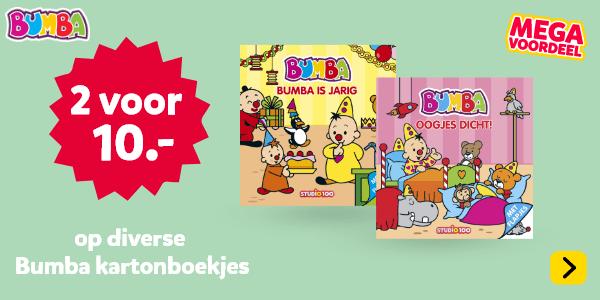 2 voor 10 euro op diverse Bumba kartonboekjes