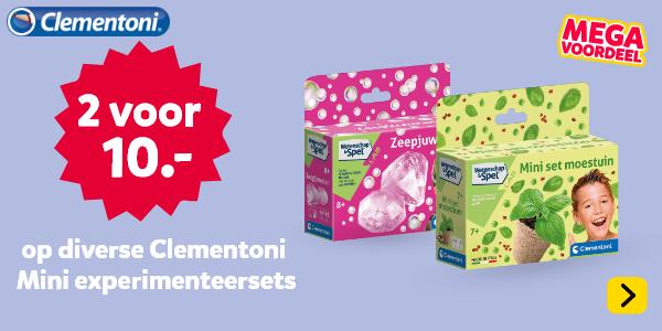 2 voor 10 euro op diverse Clementoni Mini Experimenteersets