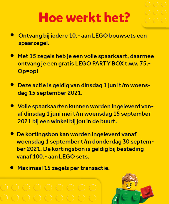 LEGO spaaractie Party Box zie informatie