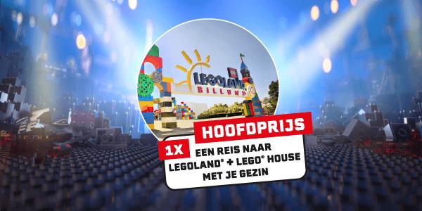 Hoofdprijs 1x een reis naar LEGOLAND + LEGO house met je gezin