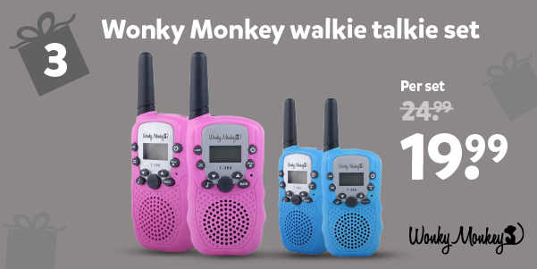 Wonky Monkey walkie talkie set