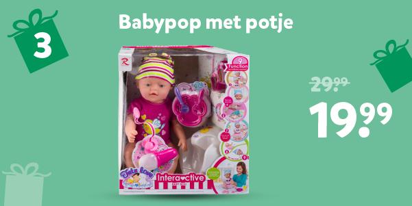Babypop met potje