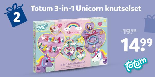 Totum 3-in-1 Unicorn knutselset