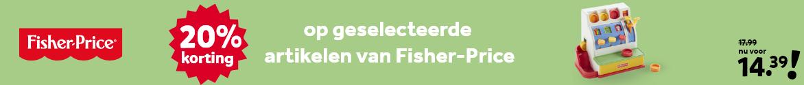 20% korting op geselecteerde artikelen van Fisher-Price
