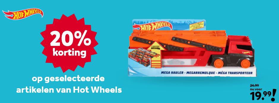 20% korting op geselecteerde Hot Wheels