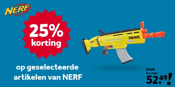25% korting op geselecteerde NERF