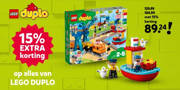 15% extra korting op LEGO DUPLO