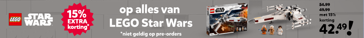 15% extra korting op alles van LEGO Star Wars