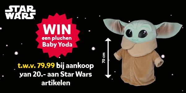Maak kans op een Baby Yoda Pluche