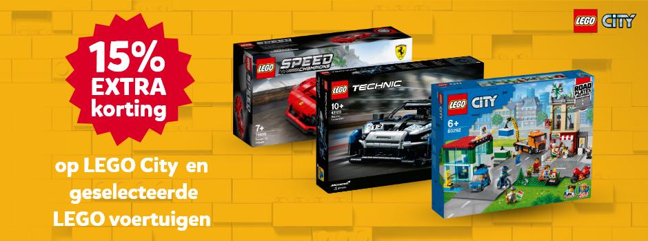 15% korting op LEGO City en geselecteerde LEGO voertuigen