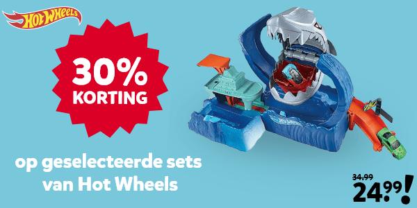 30% korting op geselecteerde Hot Wheels sets