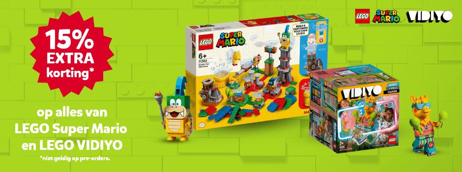 15% korting op LEGO Super Mario en LEGO VIDIYO