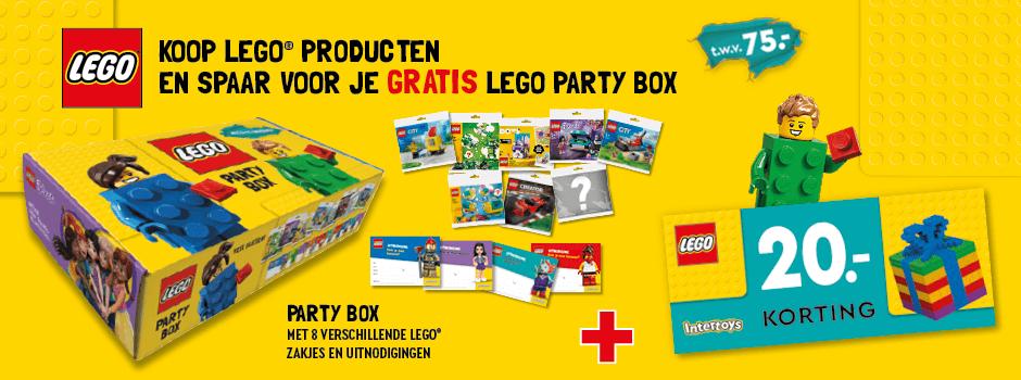 Koop LEGO producten en spaar voor je gratis LEGO Party Box