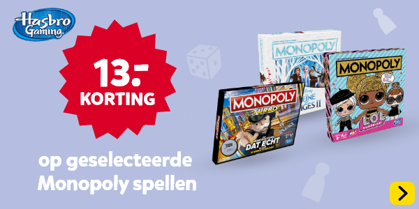13.- korting op geselecteerde Monopoly spellen