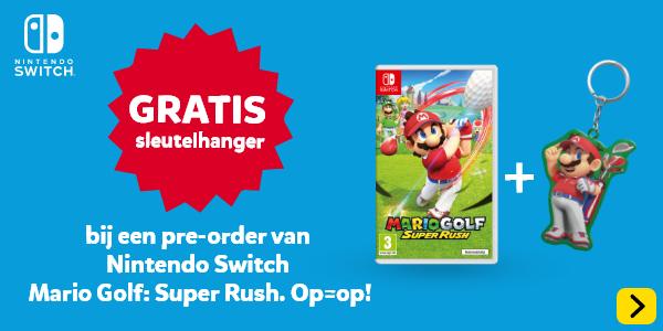 Gratis sleutelhanger Mario Golf bij Nintendo Switch