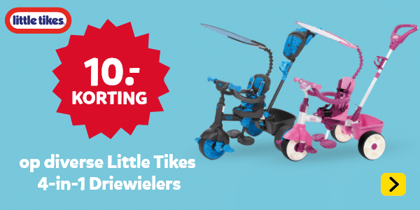 10 euro korting op diverse Little Tikes 4-in-1 Driewielers