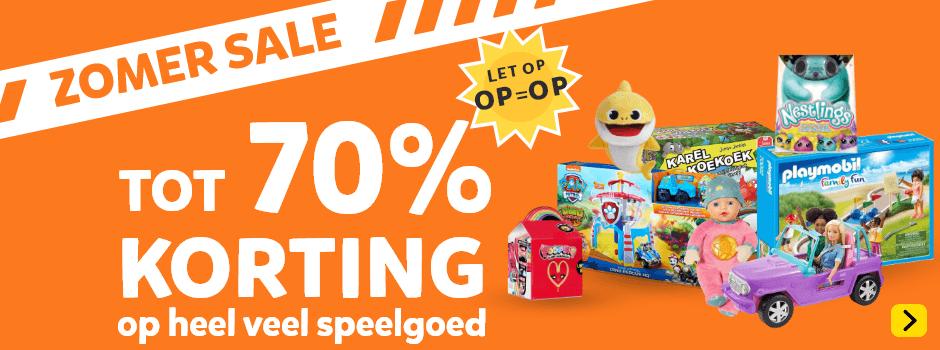 Zomer Sale: tot 70% korting op heel veel speelgoed