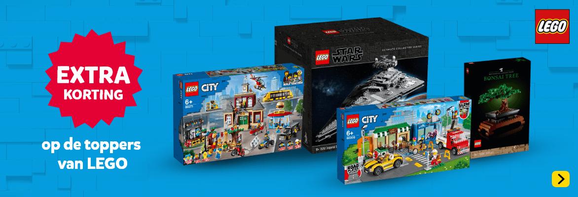 Extra korting op de toppers van LEGO