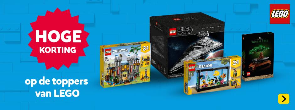 Hoge korting op de toppers van LEGO