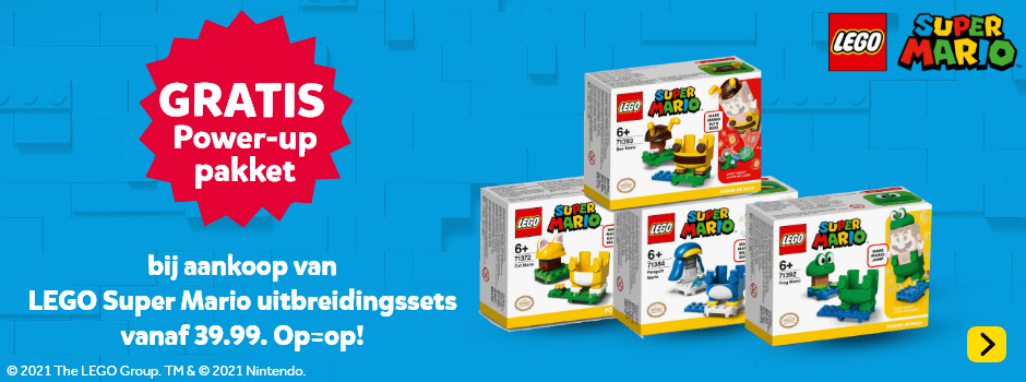 Gratis Power-uppakket bij LEGO Super Mario uitbreidingssets