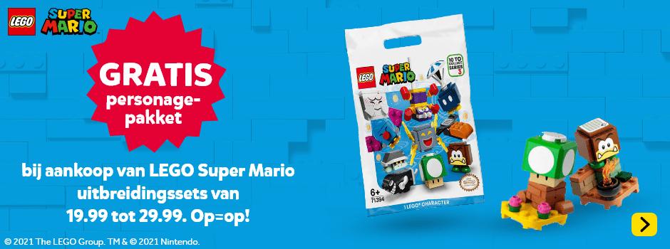 Gratis personagepakket bij LEGO Super Mario