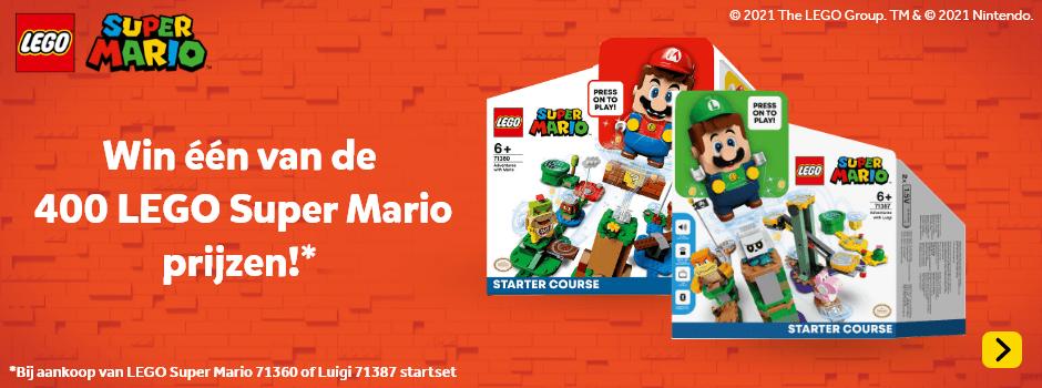 Win één van de 400 LEGO Super Mario prijzen!