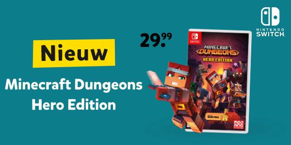 Minecraft Dungeons Hero Edition voor Nintendo Switch bij Intertoys