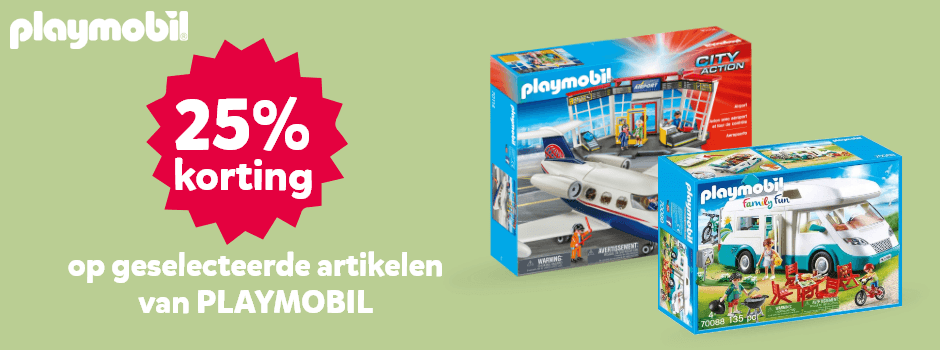 25% korting op geselecteerde Playmobil