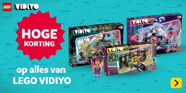 Hoge korting op geselecteerde LEGO Vidiyo speelsets