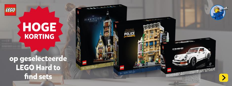 Hoge korting op geselecteerde LEGO Hard to find speelsets