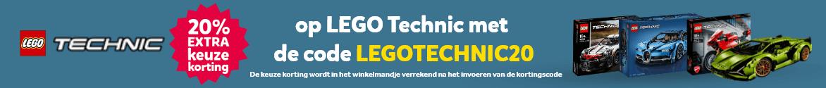 20% extra keuze korting op LEGO Technic met de code LEGOTECHNIC20