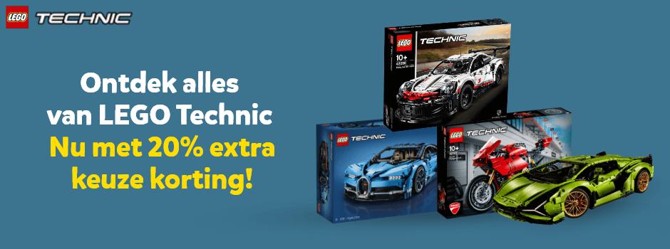 Ontdek alles van LEGO Technic. Nu met 20% extra keuze korting!