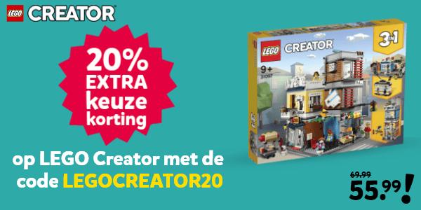 LEGO Creator kortingscode voor 20% keuzekorting