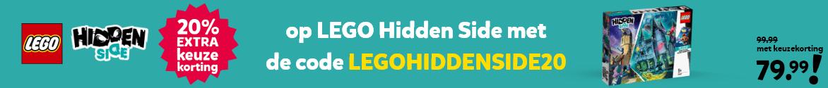 20% extra keuzekorting op LEGO Hidden Side met de code LEGOHIDDENSIDE20
