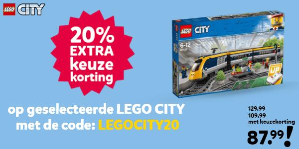205 extra keuzekorting op geselecteerde LEGO City met de code: LEGOCITY20