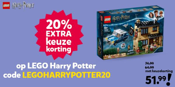 20% extra keuzekorting op LEGO Harry Potter met de code LEGOHARRYPOTTER20