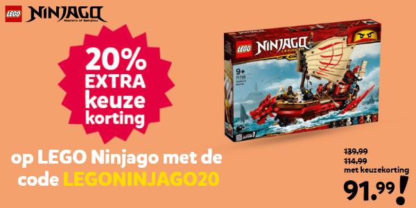 20% extra keuzekorting op LEGO Ninjago met de code LEGONINJAGO20
